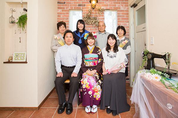 おうちスタジオ 家族集合写真