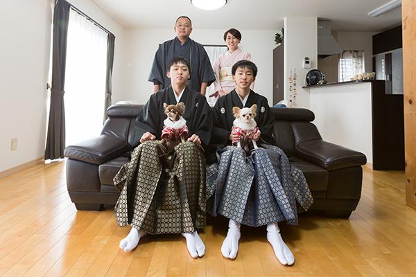 たなかみちよ 成人式家族写真1